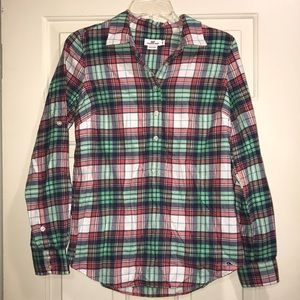 Vineyard vines long sleeve flannel shirt size 6